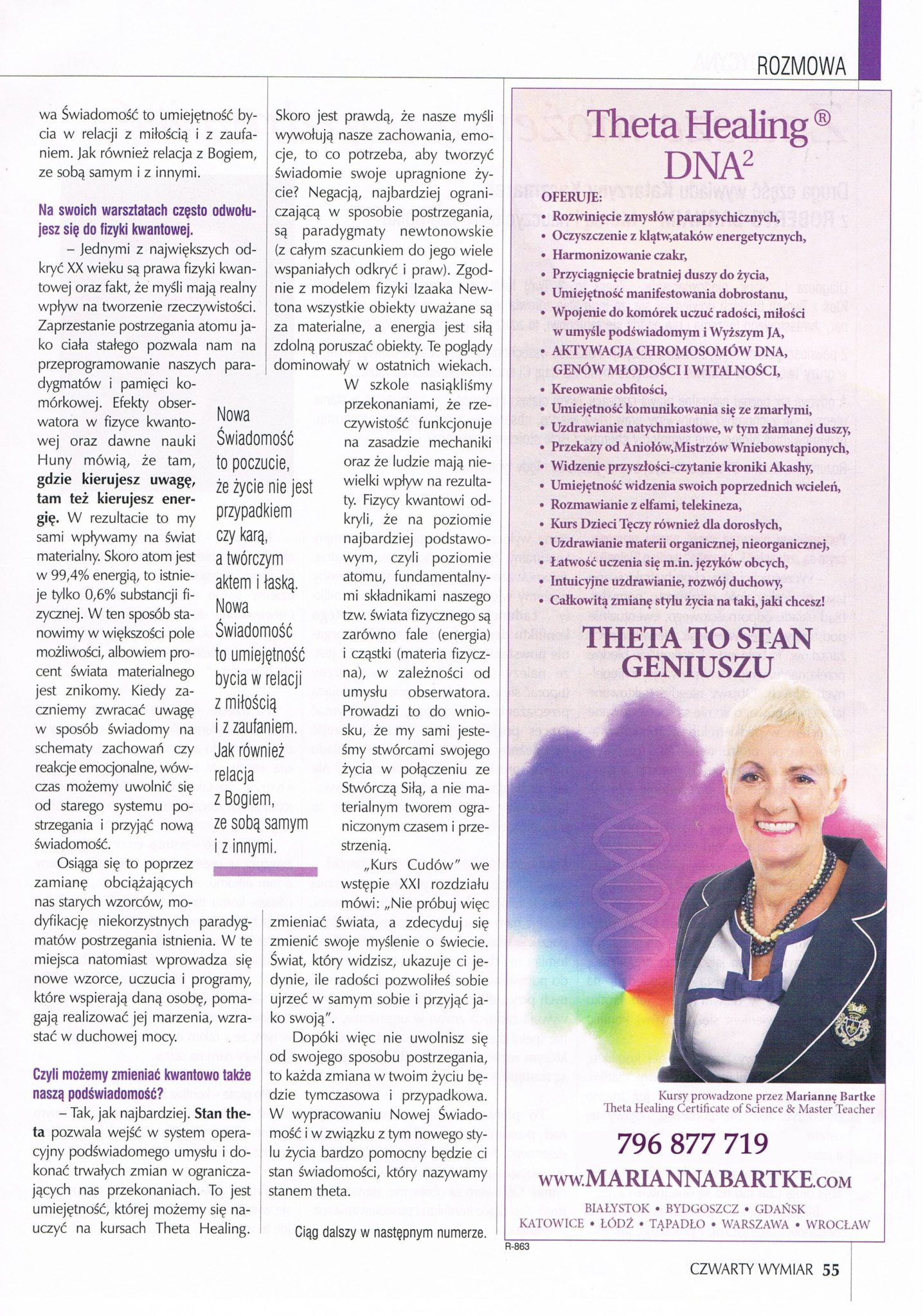 Czwarty Wymiar - Theta Healing a Nowa Świadomość. str.2