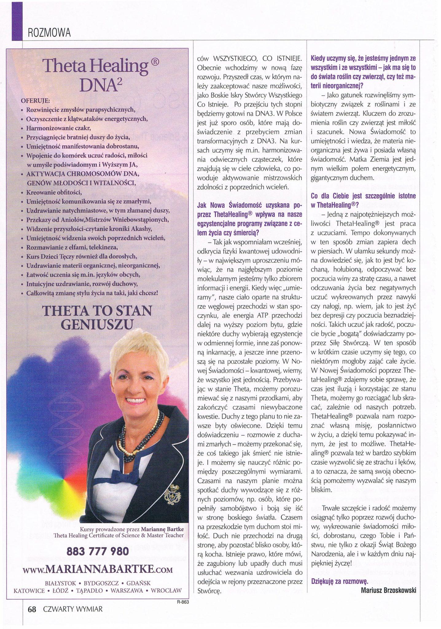 Czwarty Wymiar - Theta Healing a Nowa Świadomość. str. 4
