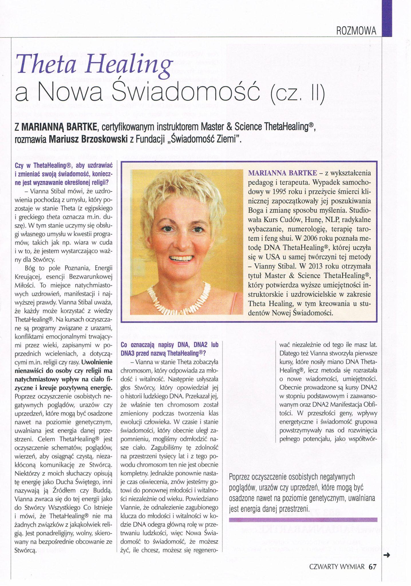 Czwarty Wymiar - Theta Healing a Nowa Świadomość. str.3
